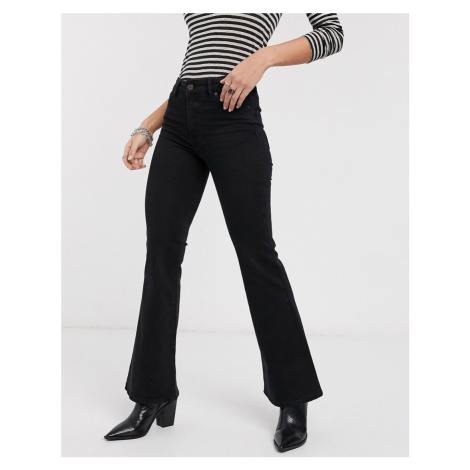 Bershka flare jeans in black