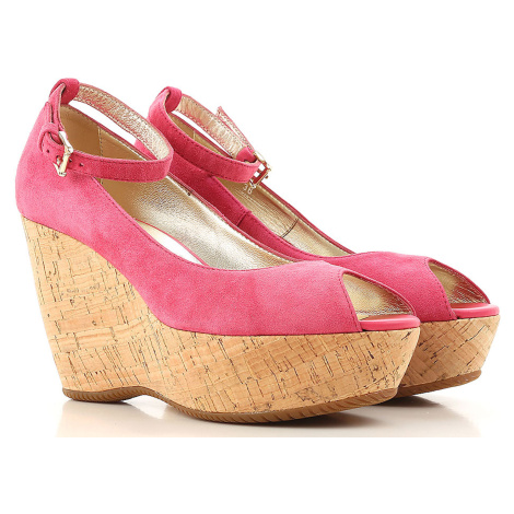 Růžové kožené sandály - HOGAN