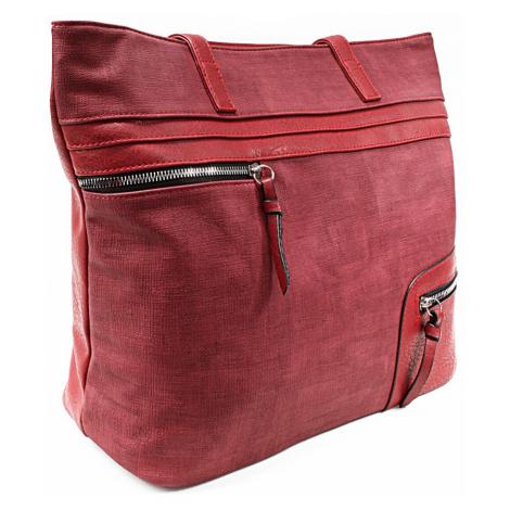 Červená dámská praktická kabelka přes rameno Paige Tapple