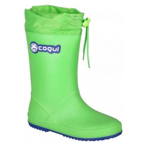 Coqui RAINY COLLAR zelená - Dětské holínky