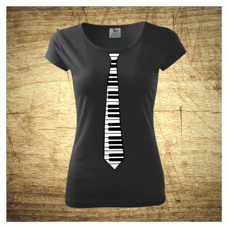 Tričko s motívom Kravata klavír. BezvaTriko