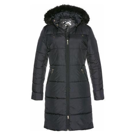 Prošívaný kabát s umělou kožešinou Bonprix