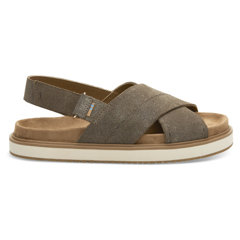Dusty Gold Star Suede Women Marisa Sand Toms