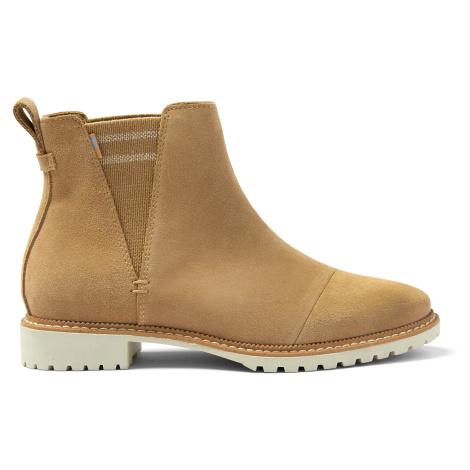 Water Resistant Desert Tan Suede Cleo Women Boot Toms