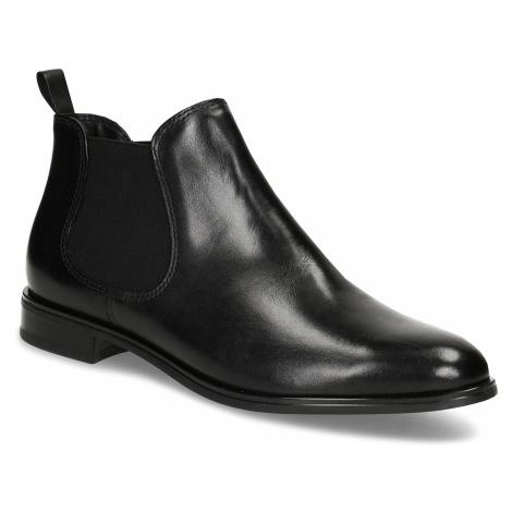 Černá kožená obuv v Chelsea stylu Baťa