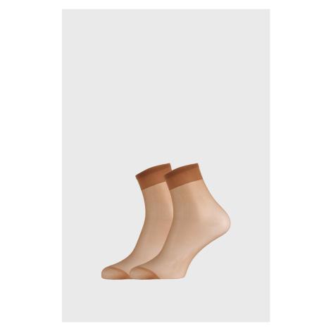 2 PACK dámských punčochových ponožek 17 DEN