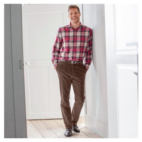 Blancheporte Manšestrové kalhoty s pružným pasem kaštanová