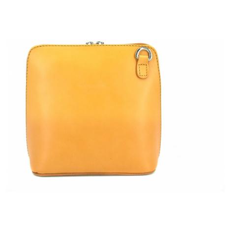 Dámská malá kožená kabelka crossbody Arteddy - hořčicová