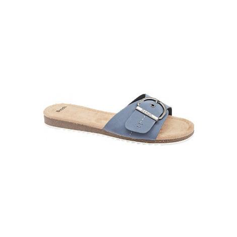 Modré pantofle Bench