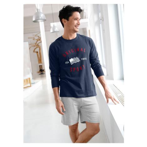 Blancheporte Pyžamové tričko s dlouhými rukávy námořnická modrá