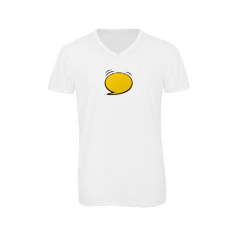 Pánské triko s výstřihem do V Barevná komiksová bublina