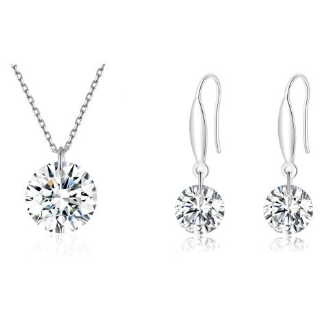Linda's Jewelry Zvýhodněná sada šperků Zirkonová Elegance Ag 925/1000 IS066