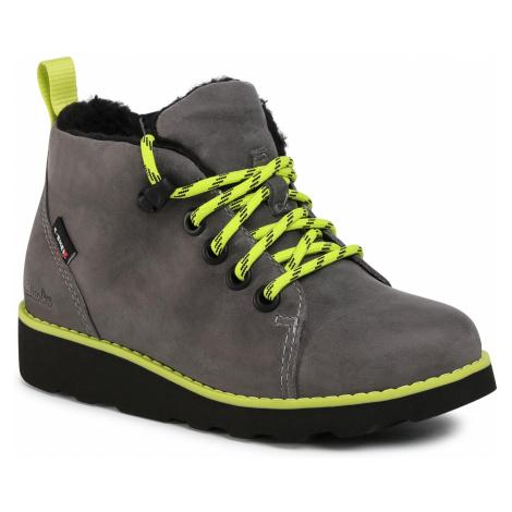 Kotníková obuv CLARKS - Crown Tor K 261542177 Grey Leather