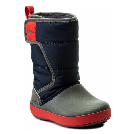 Sněhule CROCS - Lodgepoint Snow Boot K 204660 Navy/Slate Grey