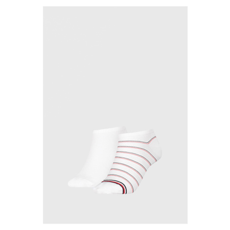 2 PACK dámských ponožek Tommy Hilfiger Preppy White