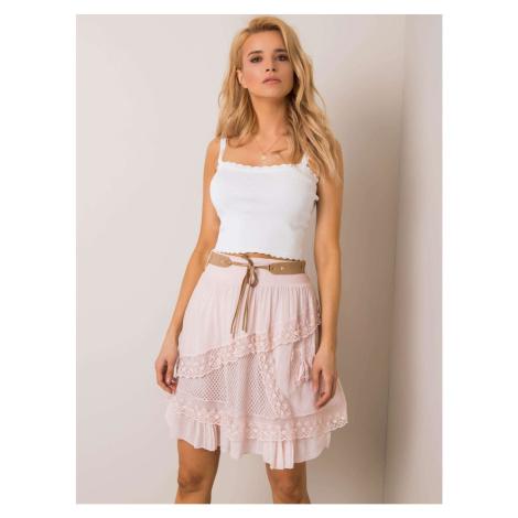 Light pink skirt with a belt