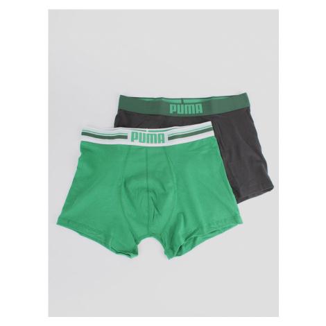 Boxerky Puma Placed Logo Boxer 2 Pack Zelená