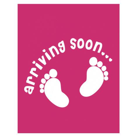 Vtipné těhotenské tričko pro budoucí maminky s potiskem Arriving soon BezvaTriko