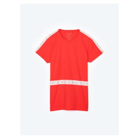 GATE Tričko s ozdobným páskem na ramenou