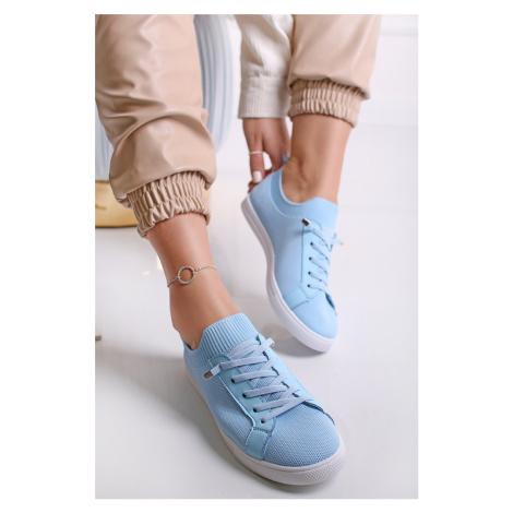 Světle modré nízké tenisky Doriana CM PARIS