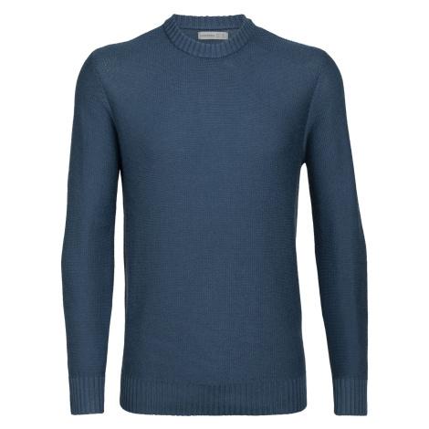 Pánské svetr ICEBREAKER Mens Waypoint Crewe Sweater, PRUSSIAN BLUE Icebreaker Merino