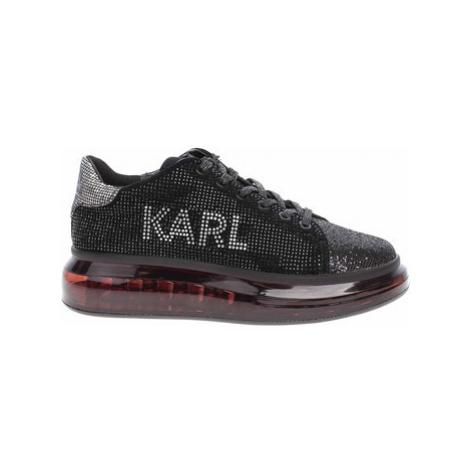 Karl Lagerfeld Dámská obuv KL62623 10S blk text lthr w-silver Černá