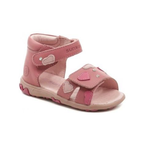 Axim Sunway 1S6938 růžové dívčí sandálky Růžová