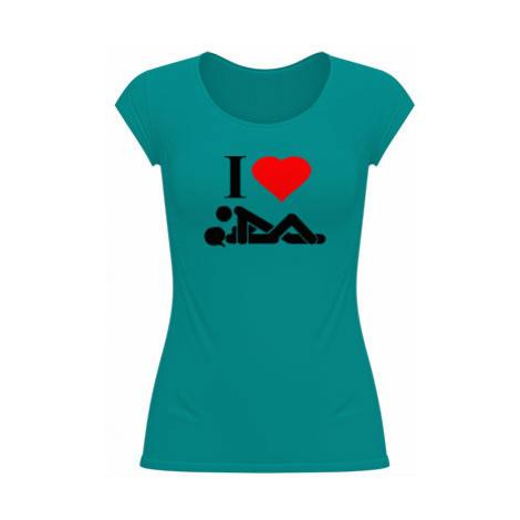 Dámské tričko velký výstřih I Love Sex