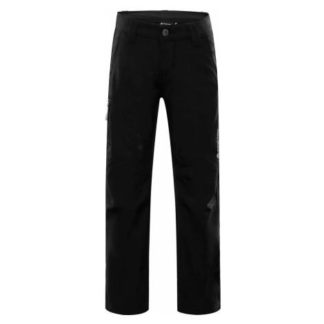 ALPINE PRO PLATAN 3 INS. Dětské softshellové kalhoty KPAP157990 černá