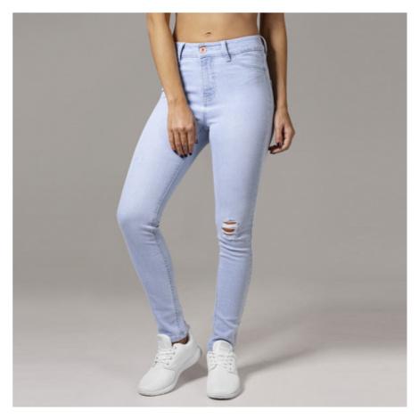 Urban Classics Ladies High Waist Skinny Denim Pants lightblue
