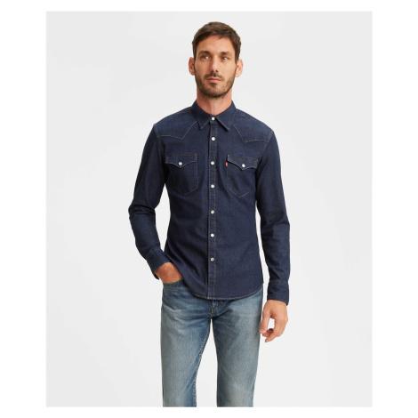 Košile Levi´s® Barstow Western Slim Red Cast pánská tmavě modrá