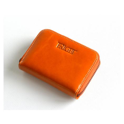 Bright Dámská peněženka na drobné kožená malá rezavo-hnědá, 11 x 3 x 8 (BR17-DA016.1-03KUZ)