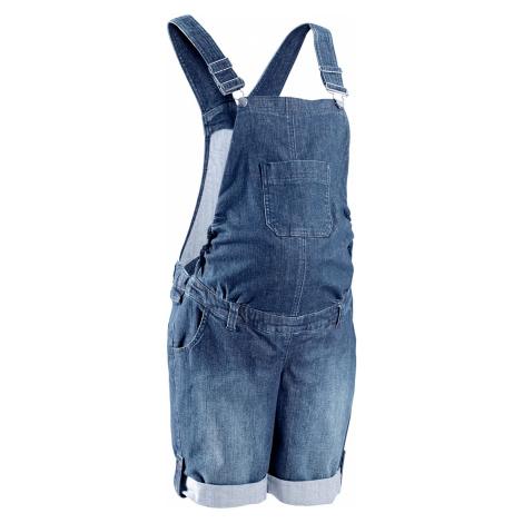 Těhotenské džínové šortky s laclem Bonprix