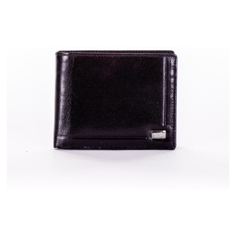 Black leather wallet with embossing Fashionhunters