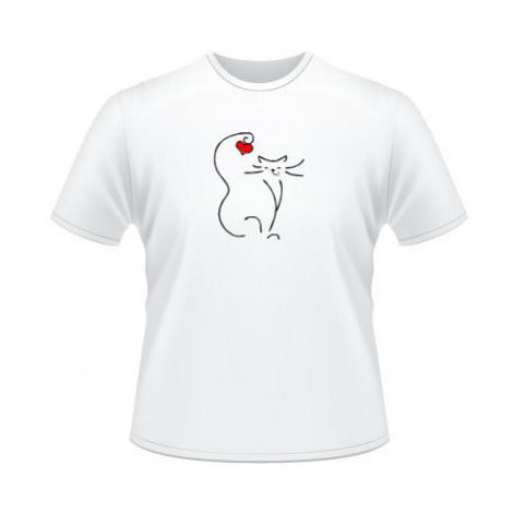 Pánské tričko na tělo Love cat