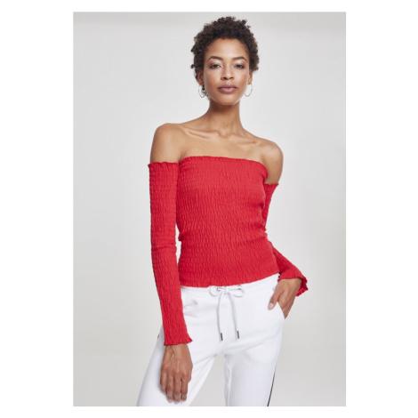 Ladies Cold Shoulder Smoke L/S - fire red Urban Classics
