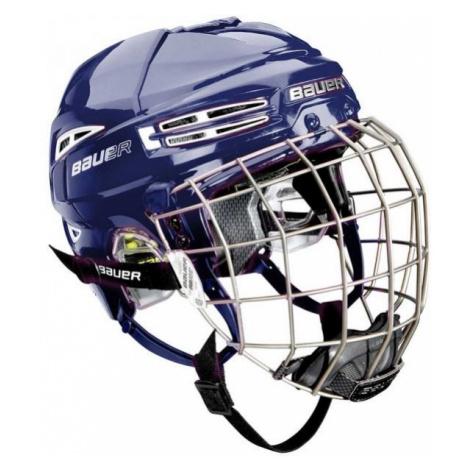 Bauer RE-AKT 100 YTH COMBO modrá - Dětská hokejová helma s mřížkou
