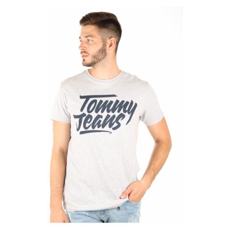 Tommy Hilfiger pánské šedé tričko