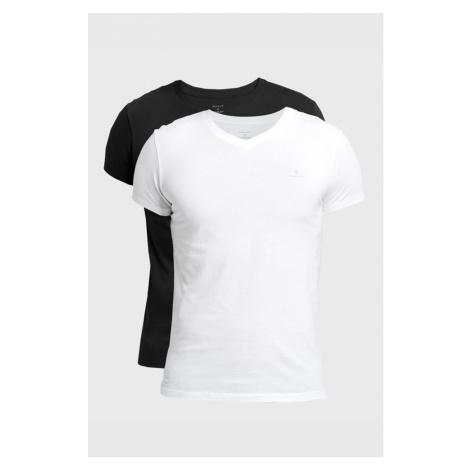 Spodní prádlo BASIC 2-PACK V-NECK T-SHIRT GANT
