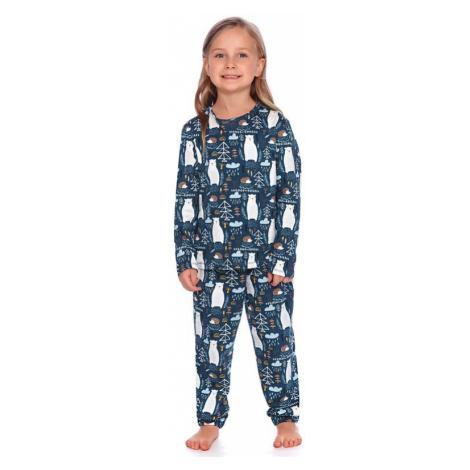 Dětské pyžamo Les tmavě modré s medvědy dn-nightwear