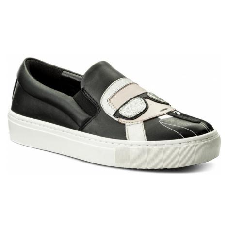 Černé slip-on boty - KARL LAGERFELD