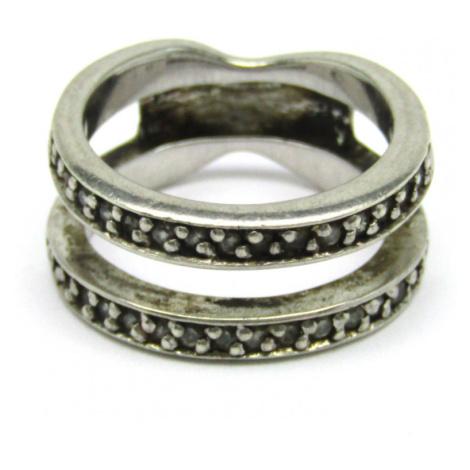 AutorskeSperky.com - Stříbrný zásnubní a snubní prsten se zirkony - S1616