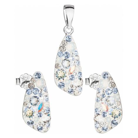 Sada šperků s krystaly Swarovski náušnice a přívěsek modrý 39167.3 light sapphire Victum