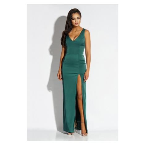 Tmavě zelené šaty Bella Dursi