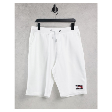 Tommy Hilfiger One Planet capsule unisex front print sweats shorts in white