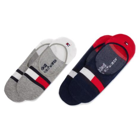 Sada 2 párů dětských kotníkových ponožek TOMMY HILFIGER - 394001001 Tommy Original 085