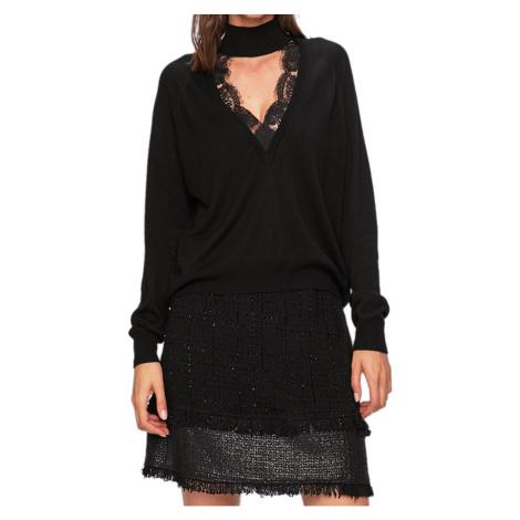 Černý svetr s krajkou PINKO