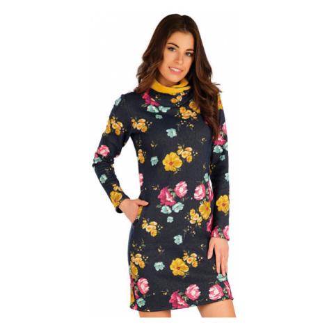 Dámské mikinové šaty s dlouhým rukávem Litex 7A076 | tisk
