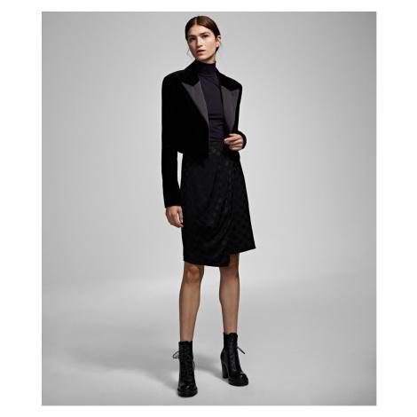 Blejzr Karl Lagerfeld Karl X Carine Velvet Jacket - Černá