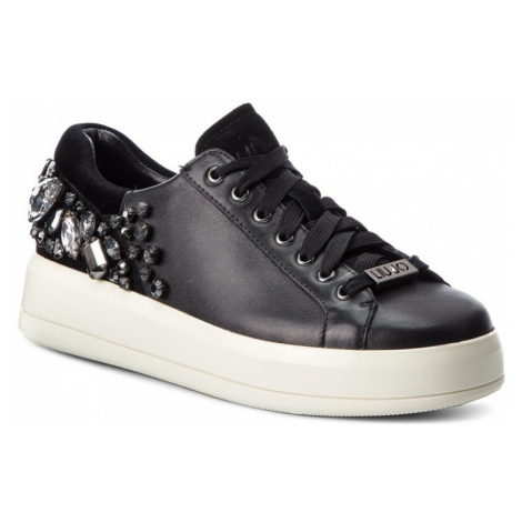 LIU JO Kim 08-lace up calf leather white